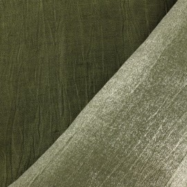 Iridescent veil linen fabric La Maison Victor  - avocado x 10cm