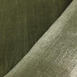 Tissu voile de lin irisé La Maison Victor - avocado  x 10cm