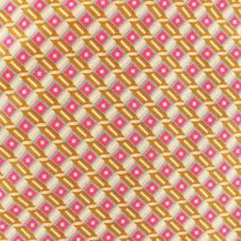 Tissu coton Oeko-Tex Petit Pan Tahar - gris x 10cm