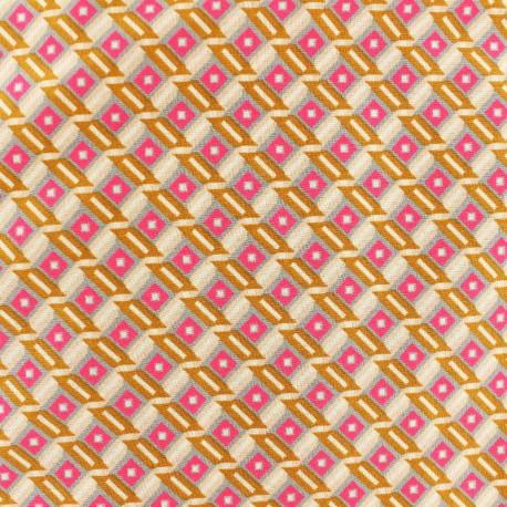 """Tahar Gris"" Petit Pan Oeko-Tex cotton fabric x 10cm"