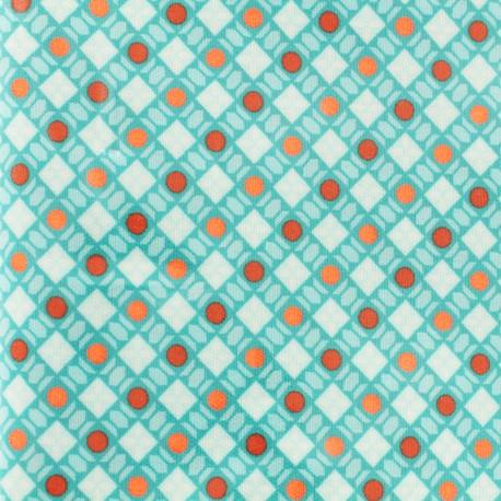 Callune Petit pan Oeko-Tex coated cotton fabric - turquoise x 10cm