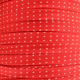 Petit Pan Pois Oeko-Tex bias binding 10mm - red x 1m
