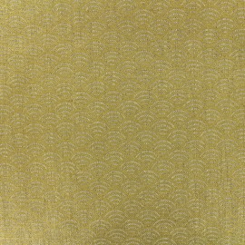 Linen canvas fabric - Sushi - gold x 10cm