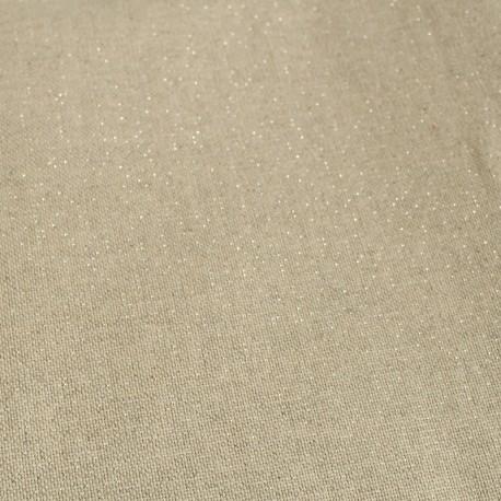 Tissu toile polycoton - cubex - argent x 10cm