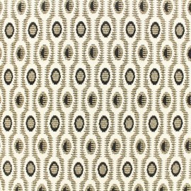 Light stitch lurex fabric Art déco - black/gold/white x 10cm