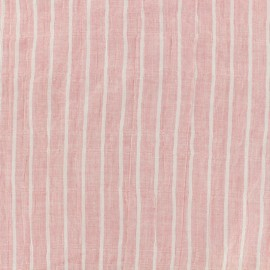 Cotton voile Fabric stripes - pink x 10cm