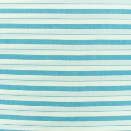 Cotton viscose Fabric stripes - blue x 10cm