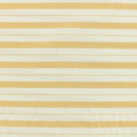 ♥ Only one piece 130 cm X 160 cm ♥ Cotton viscose Fabric stripes - mustard