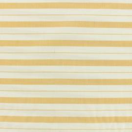 Tissu coton viscose rayures - moutarde x 10cm