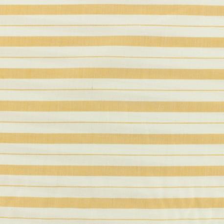 Cotton viscose Fabric stripes - mustard x 10cm