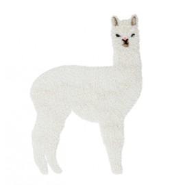 Thermocollant Lama lurex - blanc/argent