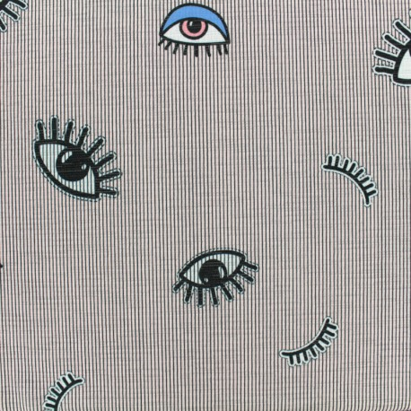 Light Jersey Fabric - Keep your eyes on me x 10cm
