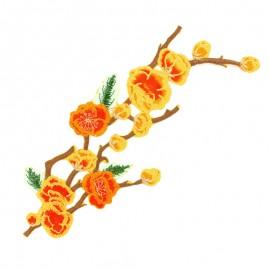 Thermocollant fleurs du soleil - jaune/orange