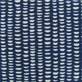Tissu crepe moon day - marine x 50cm