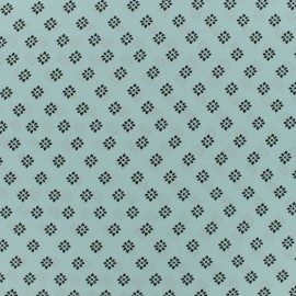 Riad muslin Fabric - light teal x 50cm
