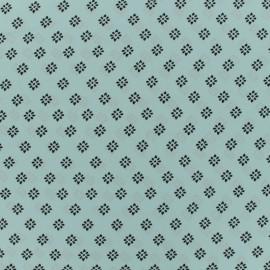 Tissu crepe Riad - vert d'eau x 50cm