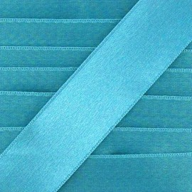Ruban satin - turquoise x 1m