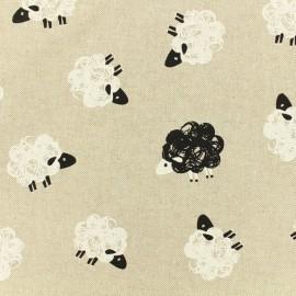 Tissu polycoton  - Field of sheep - naturel x 10cm