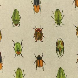 Tissu polycoton  - Beetles - couleur lin x 10cm