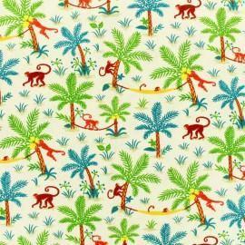 Tissu cretonne  - Funny Monkeys x 10cm