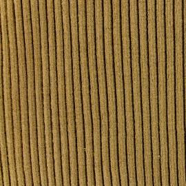 ♥ Coupon 80 cm X 37 cm ♥ Knitted Jersey 3/3 tubular edging fabric large - brown