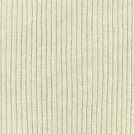 Knitted Jersey 3/3 tubular edging fabric large - light grey chin