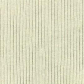 Tissu jersey tubulaire bord-côte 3/3 large - gris clair chiné  x 10cm