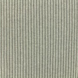Knitted Jersey 1/2 tubular edging fabric large - mouse grey