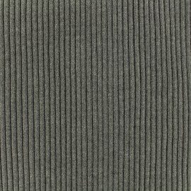 Knitted Jersey 1/2 tubular edging fabric large - middle grey