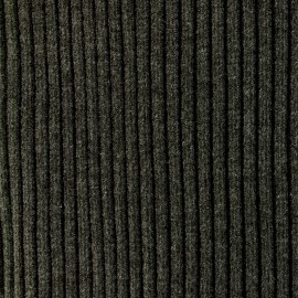 Knitted Jersey 1/2 tubular edging fabric large - charcoal