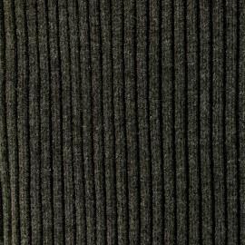 Tissu jersey tubulaire bord-côte 3/3 large - gris ardoise  x 10cm
