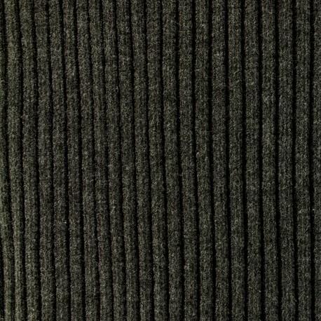 Tissu jersey tubulaire bord-côte 1/2 large - gris ardoise  x 10cm