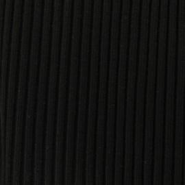 Tissu jersey tubulaire bord-côte 1/2 large - noir  x 10cm
