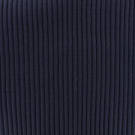 Knitted Jersey 1/2 tubular edging fabric large - navy