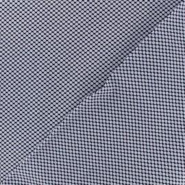 ♥ Coupon 60 cm X 150 cm ♥ Tissu popeline satinée graphique - bleu
