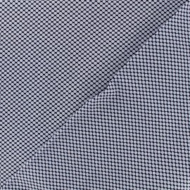 Tissu popeline satinée graphique - bleu x 10cm