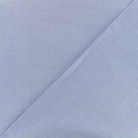 Tissu popeline satinée chambray - bleu