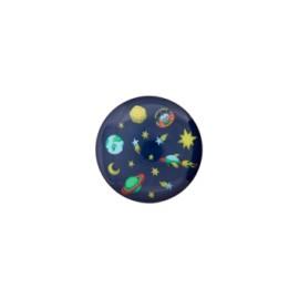 Bouton polyester Univers 15 mm - bleu marine