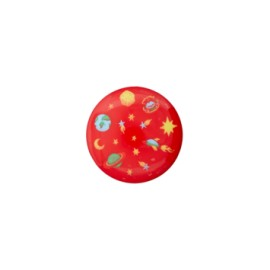 15 mm Universe polyester button - red