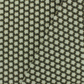 ♥ Coupon 300 cm X 150 cm ♥ Cotton canvas fabric Savigny - vert de chrome