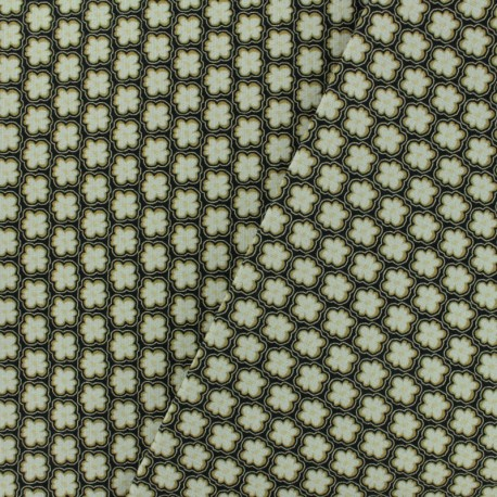 Cotton canvas fabric Savigny - vert de chrome x 10cm