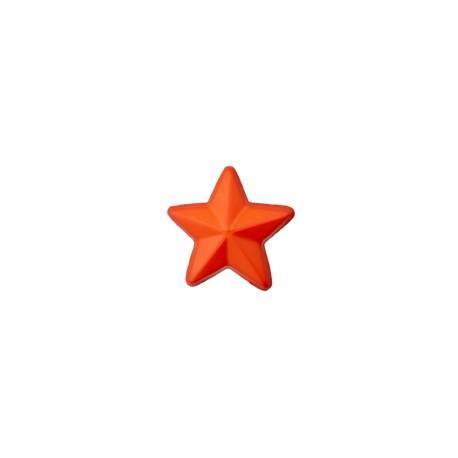 15 mm 3D star polyester button - orange