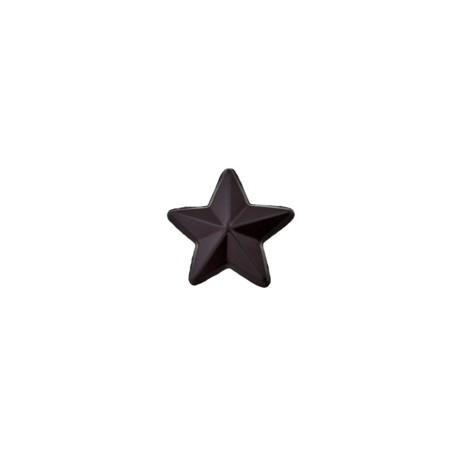 15 mm 3D star polyester button - black