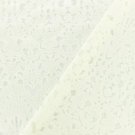Tissu jersey dévoré Juliet - écru x 10cm