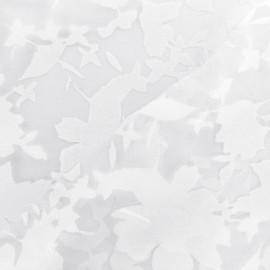 Tissu organza dévoré Rachel - blanc x 30 cm