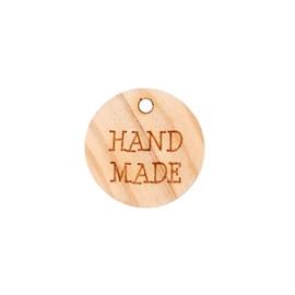"Pampille étiquette ""Handmade"" - bois naturel"