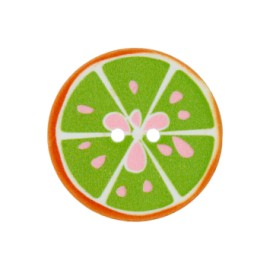 25 mm Crazy lemonade polyester button - green