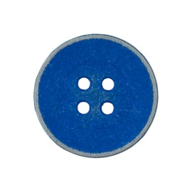 Basic vintage metal button - blue