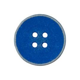 Bouton métal Basic vintage - bleu