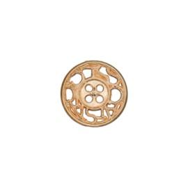 Bouton métal ajouré Cheverny 12 mm - doré